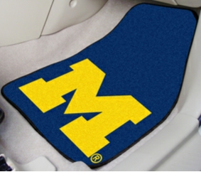 Michigan Wolverines Carpet Car Floor Mat