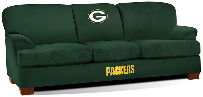 Green Bay Packers First Team Microfiber Sofa