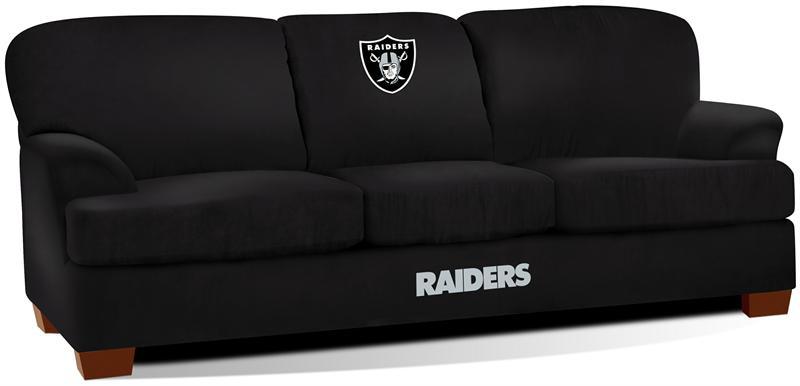 Oakland Raiders First Team Microfiber Sofa