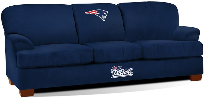 New England Patriots First Team Microfiber Sofa