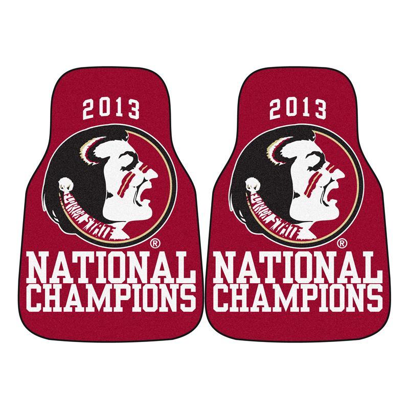 Florida State Seminoles Football Floor Mat: Florida State Seminoles 2013 BCS Champions Carpet Car Mats
