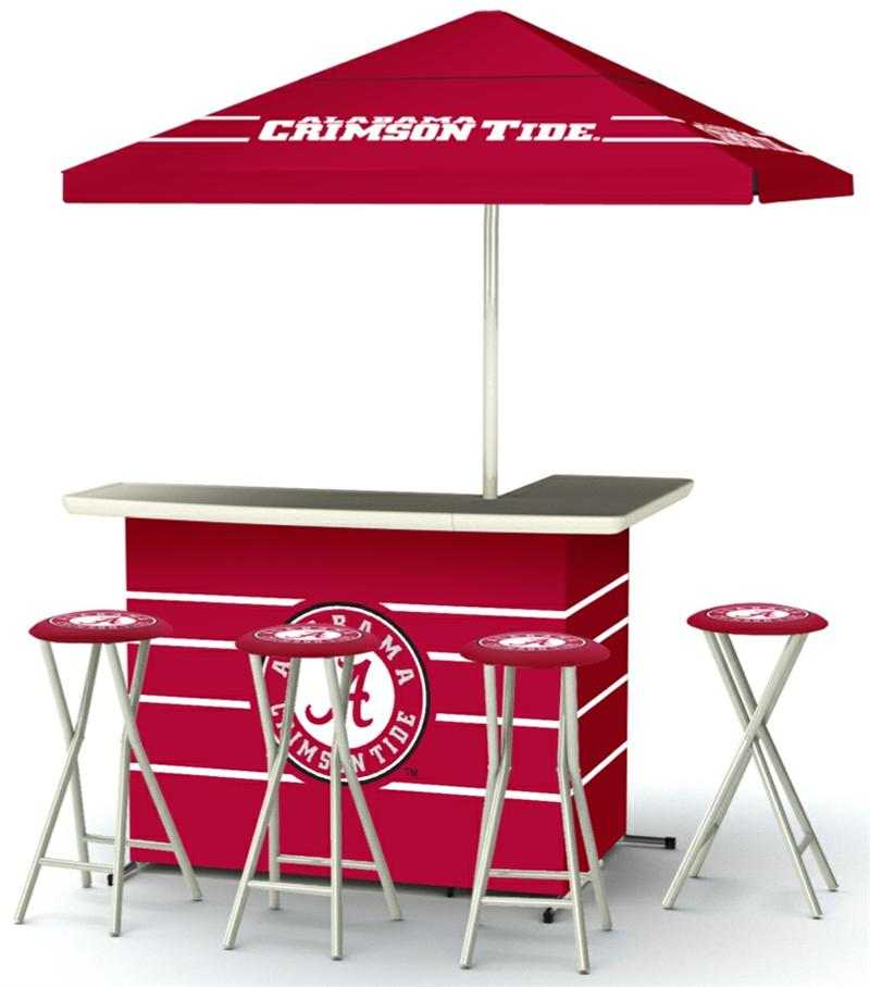 Alabama Crimson Tide Deluxe Portable Tailgate Bar Set