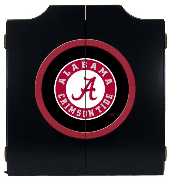 Alabama Letter A Logo Black Dart Board Cabinet