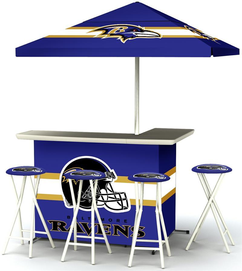 Baltimore Ravens Deluxe Portable Tailgate Bar Set