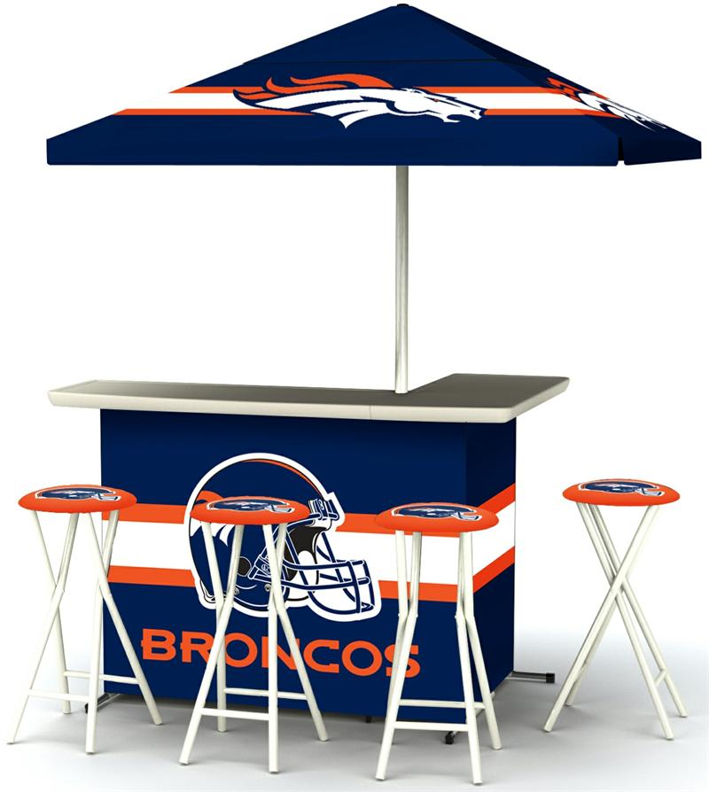 Denver Broncos Deluxe Portable Tailgate Bar Set