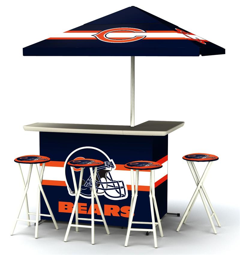Chicago Bears Deluxe Portable Tailgate Bar Set