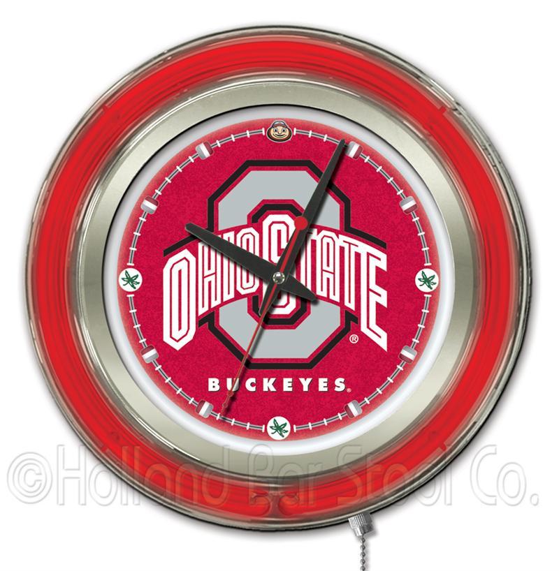 Ohio State Buckeyes 15 Inch Neon Clock