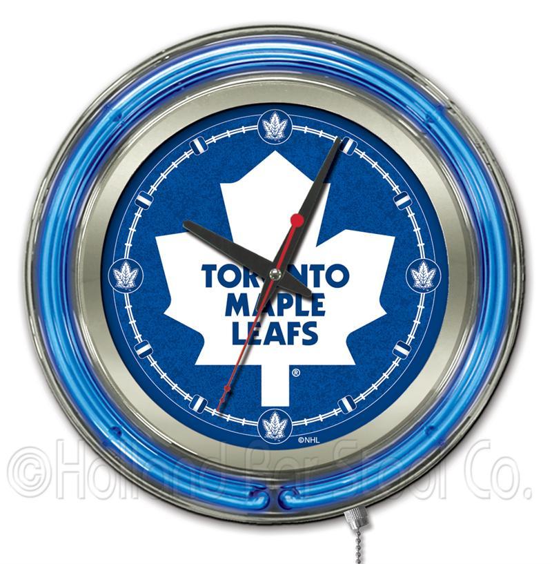 Toronto Maple Leafs 15 Inch Neon Clock