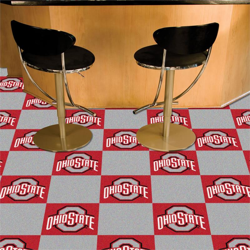 Ohio State Buckeyes Carpet Tile Set