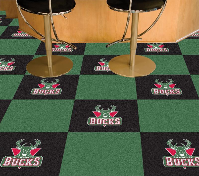 Milwaukee Bucks Carpet Tiles