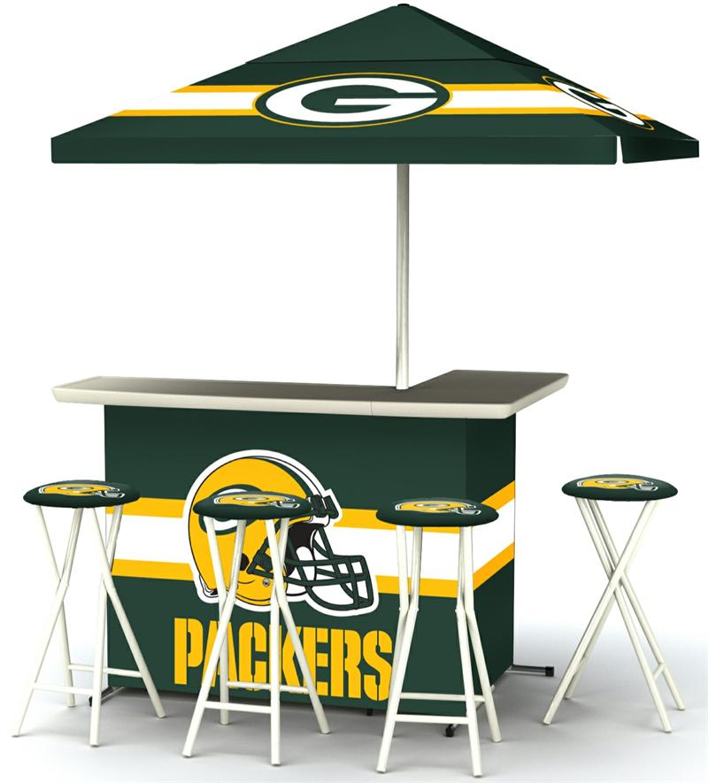 Green Bay Packers Deluxe Portable Tailgate Bar Set