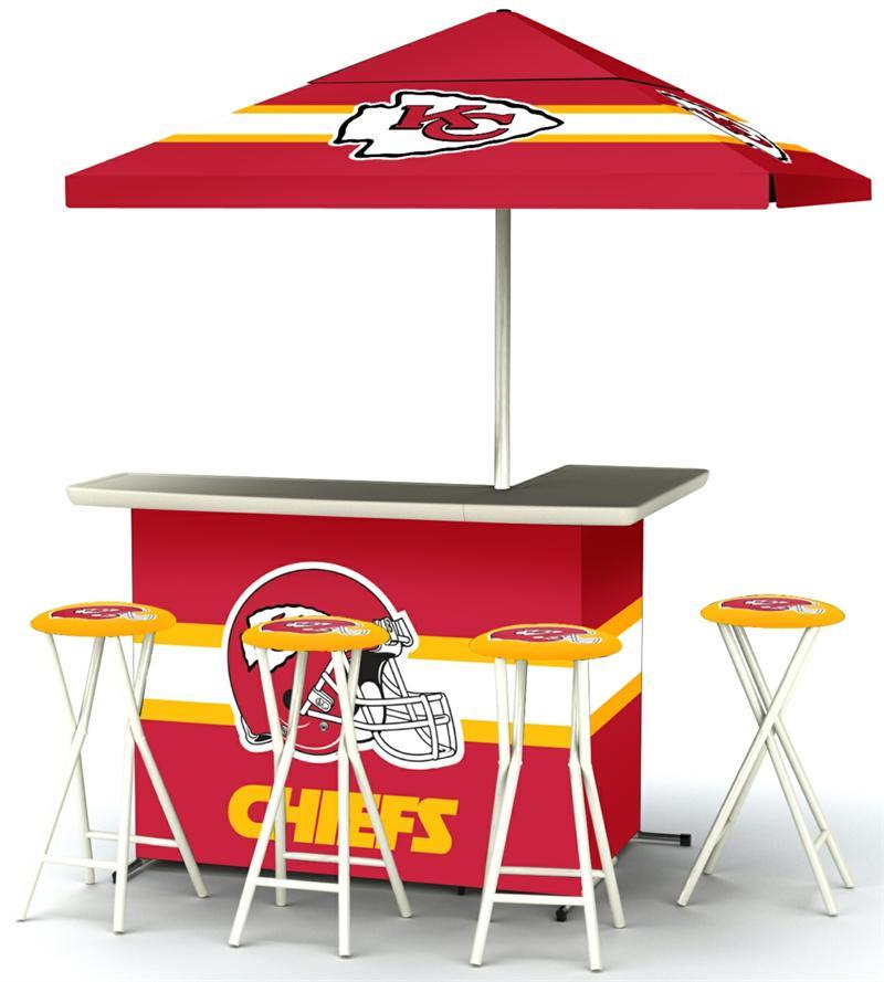 Kansas City Chiefs Deluxe Portable Tailgate Bar Set