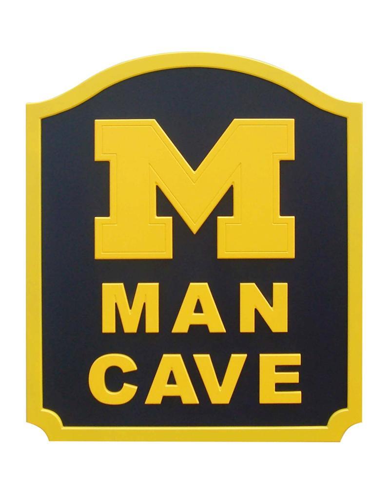 michigan wolverines man cave shield