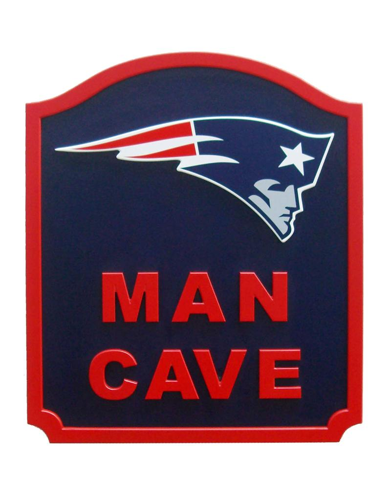 New England Patriots Man Cave Shield