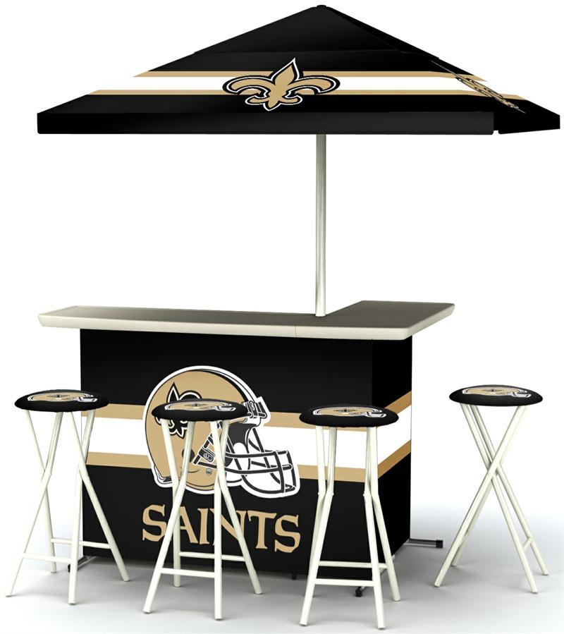 New Orleans Saints Deluxe Portable Tailgate Bar Set