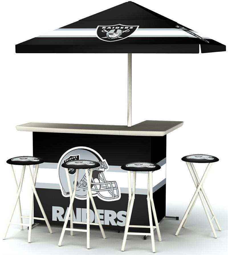 Oakland Raiders Deluxe Portable Tailgate Bar Set