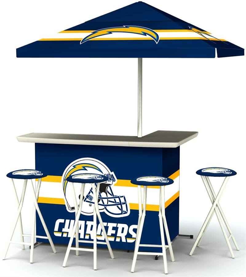 San Diego Chargers Deluxe Portable Tailgate Bar Set