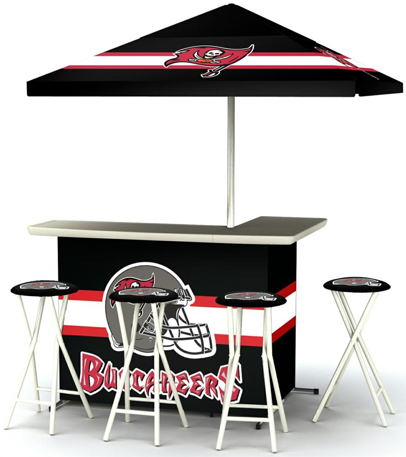 Tampa Bay Buccaneers Deluxe Portable Tailgate Bar Set