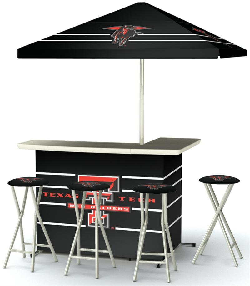 Texas Tech Deluxe Portable Tailgate Bar Set