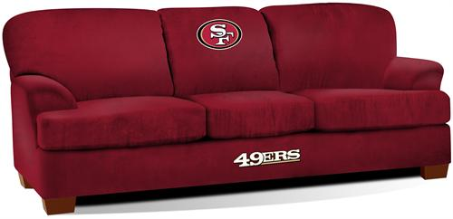 San Francisco 49ers First Team Microfiber Sofa