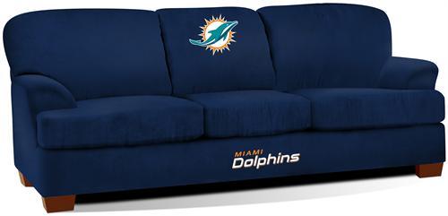 Miami Dolphins First Team Microfiber Sofa