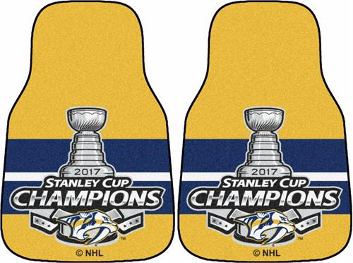 Pittsburgh Penguins 2017 Stanley Cup Champions Carpet Car Mats