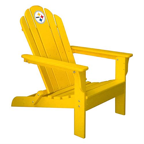Pittsburgh Steelers Yellow Folding Adirondack Chair