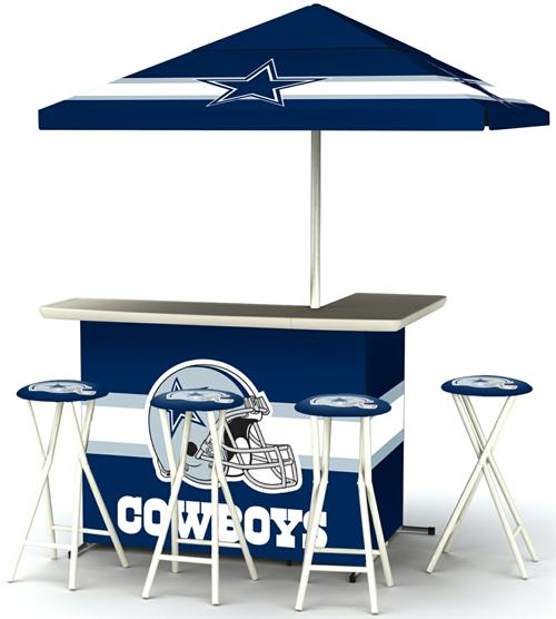 Dallas Cowboys Deluxe Portable Tailgate Bar Set