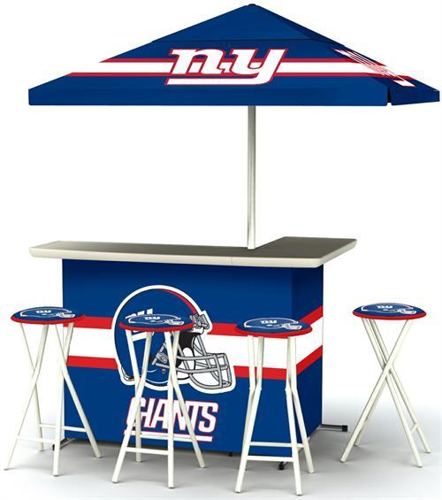 New York Giants Deluxe Portable Tailgate Bar Set