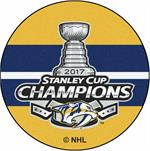 Pittsburgh Penguins 2017 Stanley Cup Champions Puck Mat