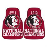 Florida State Seminoles 2013 BCS Champions Carpet Car Mats