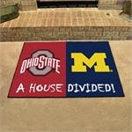 Ohio State-Michigan House Divided Mat