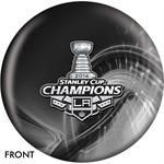 Los Angeles Kings 2014 Stanley Cup Champions Bowling Ball Front View