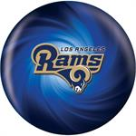 Los Angeles Rams Bowling Ball Front View
