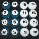 Penn State Numbered Pool Balls