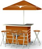Texas Longhorns Deluxe Portable Tailgate Bar Set