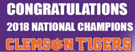 Clemson Tigers 2018 College Football Champions