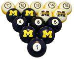 NCAA Numbered Pool Balls