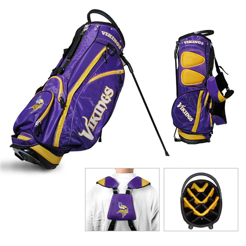 946322fa4f88a Minnesota Vikings Fairway Stand Golf Bag · View Larger Image