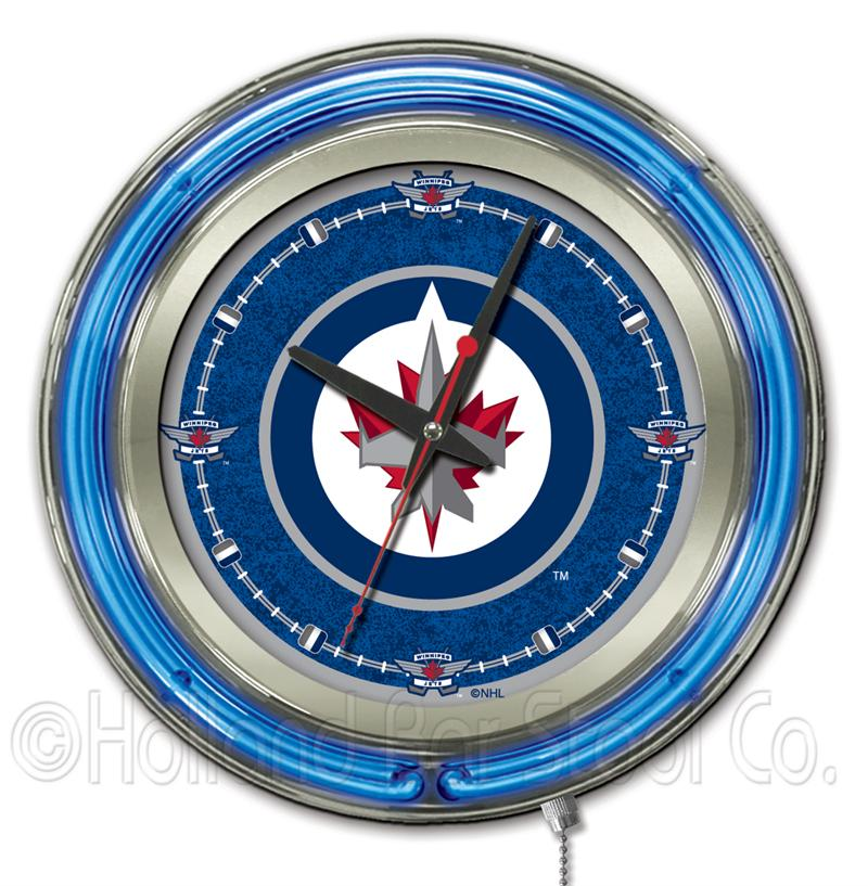 Winnipeg Jets 15 Inch Neon Clock
