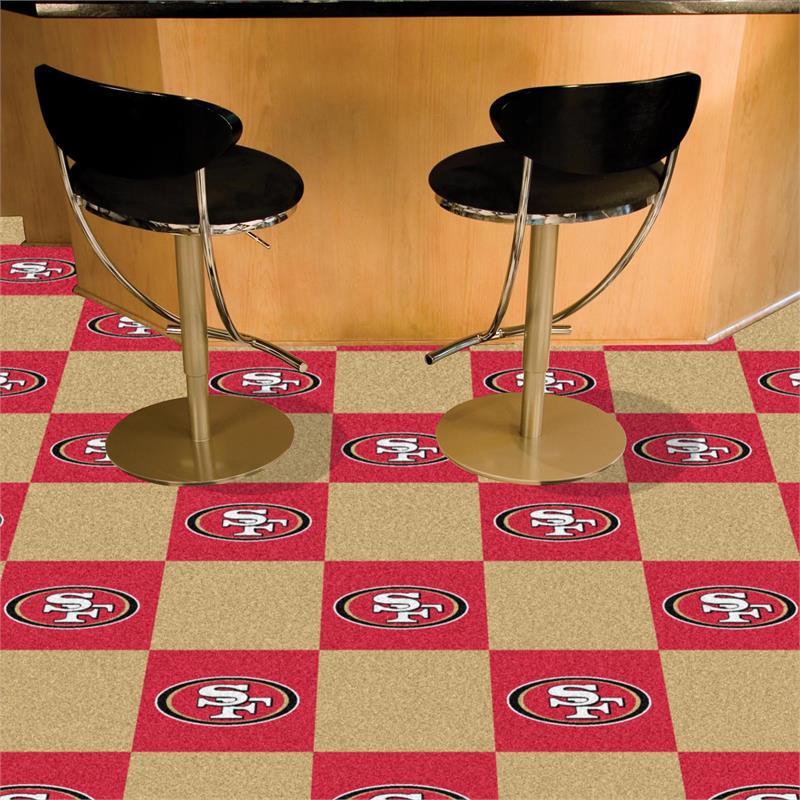 San Francisco 49ers Carpet Tiles