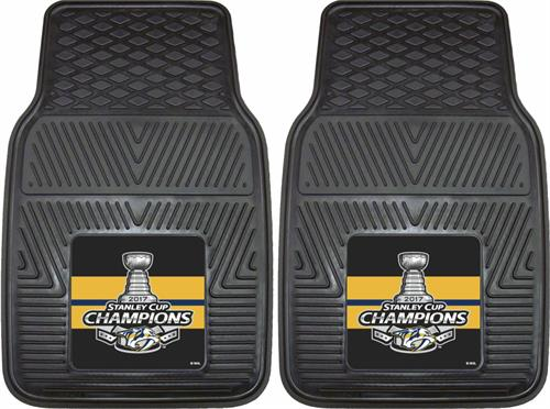 Pittsburgh Penguins 2017 Stanley Cup Champions Vinyl Car Mats