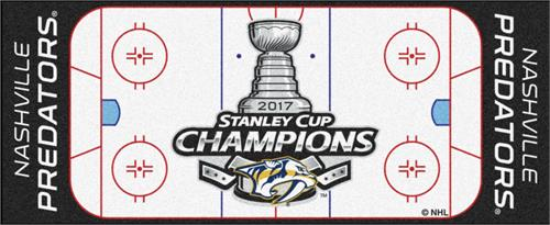 Pittsburgh Penguins 2017 Stanley Cup Champions Rink Runner Mat