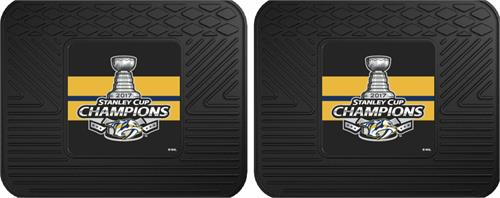 Pittsburgh Penguins 2017 Stanley Cup Champions Utility Mat Set