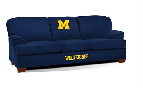 Michigan Wolverines First Team Microfiber Sofa