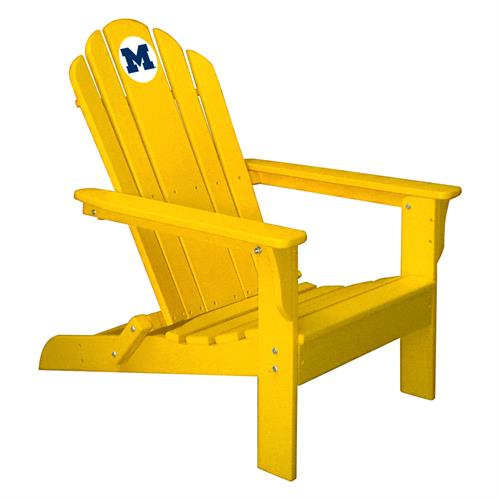 Michigan Wolverines Maize Folding Adirondack Chair