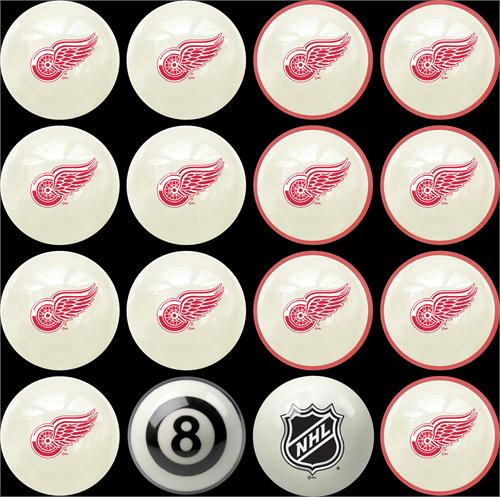 Detroit Red Wings Pool Balls