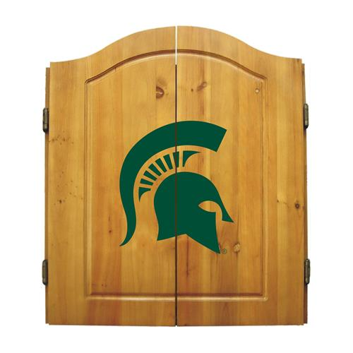 Michigan State Spartans Dart Cabinet Set