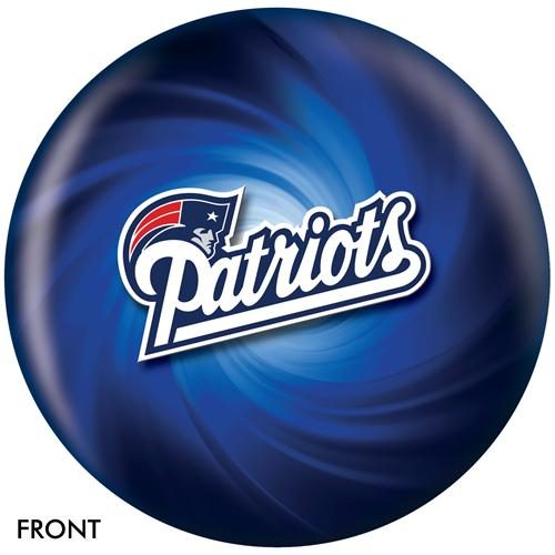 New England Patriots Bowling Ball Front View