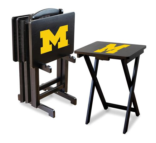 Michigan Wolverines TV Snack Tray Set